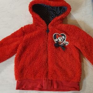 Size 3 Disney Minnie Mouse red jumper